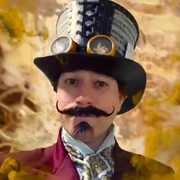 Allin Kempthorne as Steampunk magician Professor Strange