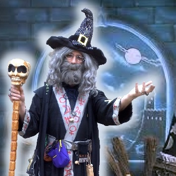 Allin Kempthorne as a wizard